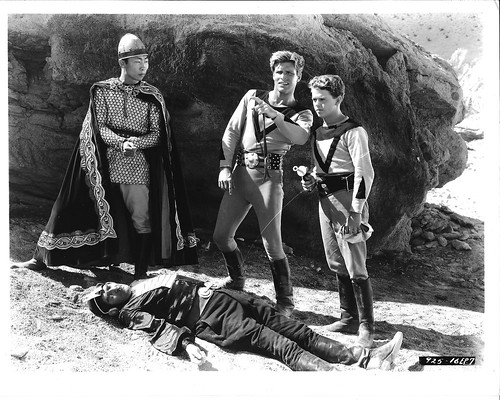 Philson Ahn, Buster Crabbe, Jackie Moran in BUCK ROGERS