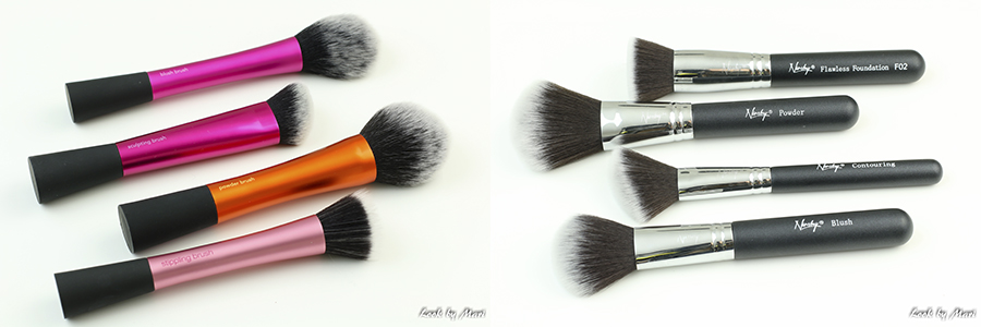 5 comparison between real techniques and nanshy brushes