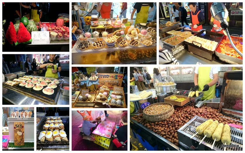 food vendors in Myeongdong