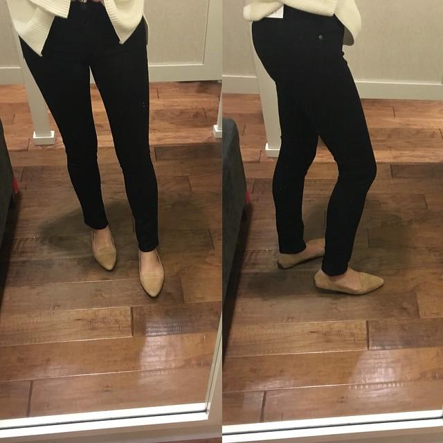 LOFT Modern Skinny Jeans in black, size 25/0P