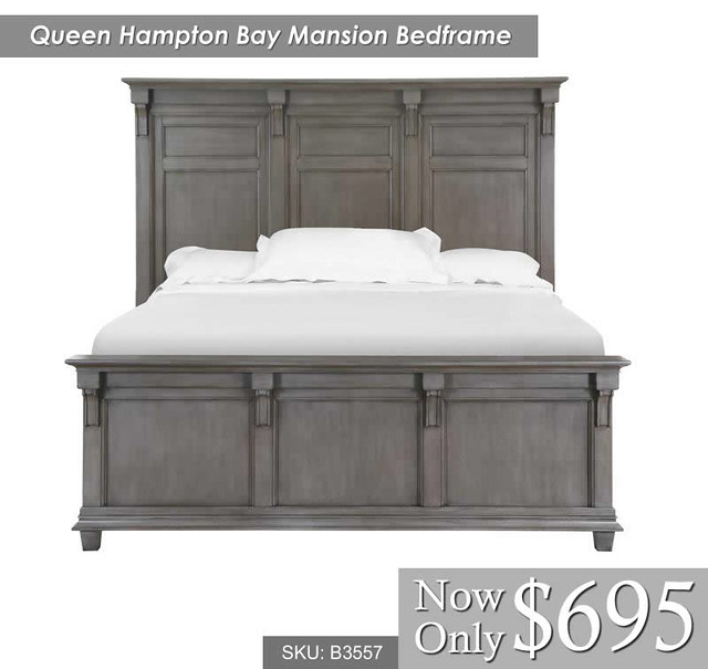Queen hampton bay bedframe only B3557-64G
