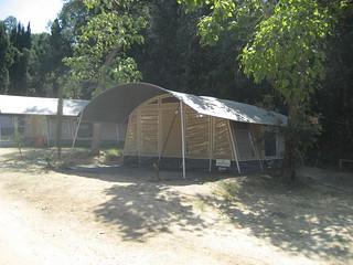 Instalación vanguardista en el camping Begur.