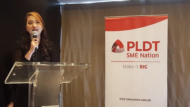 Ms. Omni Amisola-Larrosa of Product Lead of Smart Business Solutions PLDT SME | PLDT SME Nation's Smart Digital Campus Launched in Davao City - DavaoLife.com