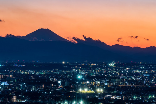 Shooting Mount Fuji in the telephoto lens from the Tokyo Metropolitan Government Office