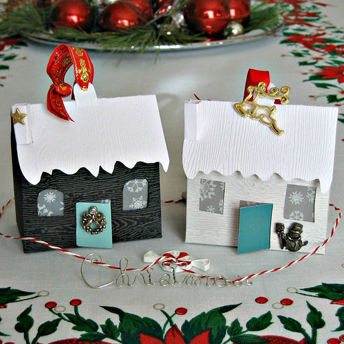 Christmas Tiny Paper Houses