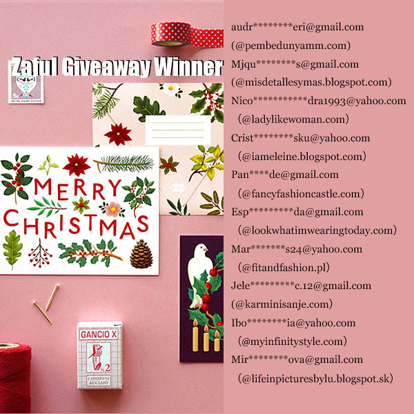 ZAFUL $100 GIVEAWAY winners
