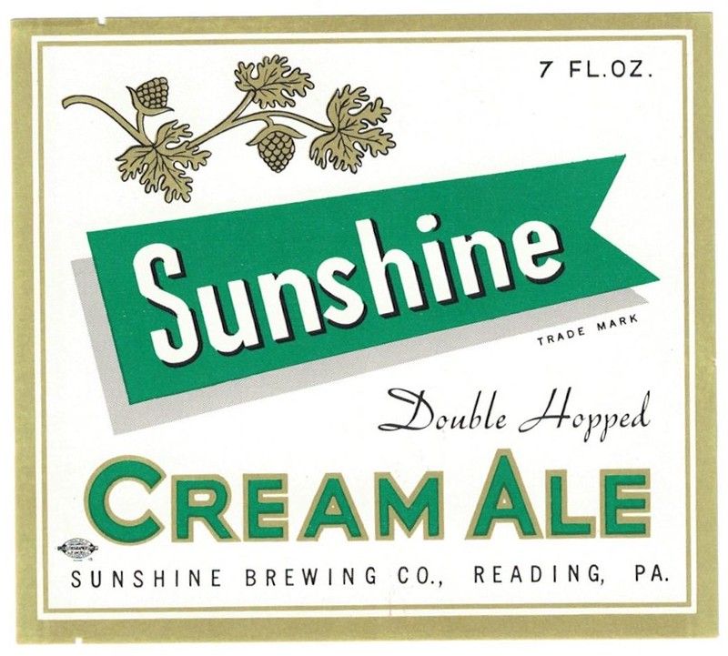 Sunshine-Cream-Ale-Beer-Label