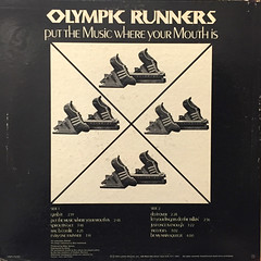 OLYMPIC RUNNERS:PUT THE MUSIC WHERE YOUR MOUTH IS(JACKET B)