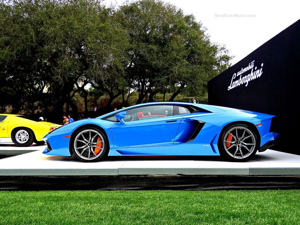 Blue Lamborghini Aventador Amelia Island
