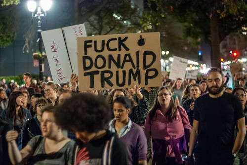Oakland Anti-Trump protest