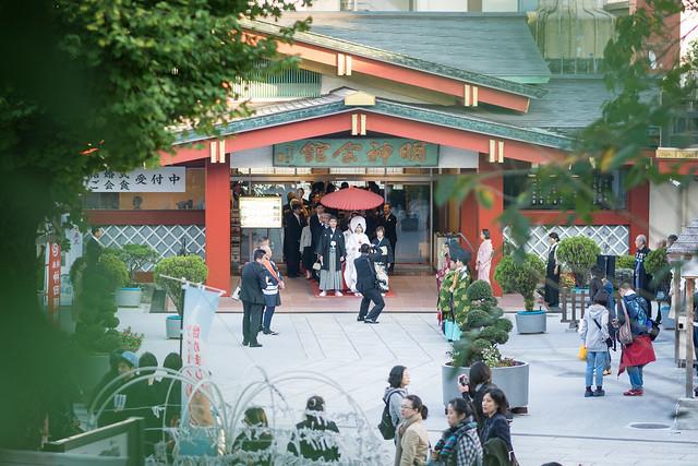 神田明神で結婚式。いよいよ出発が近づく