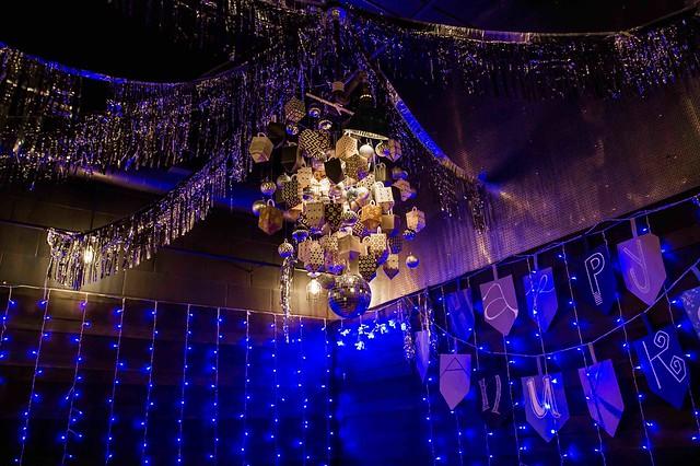 Hanukkah Hangout dreidel chandelier at Mockingbird Hill by Joy Asico