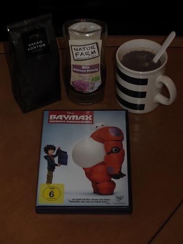Mit Honig gesüßter Kakao zum Film