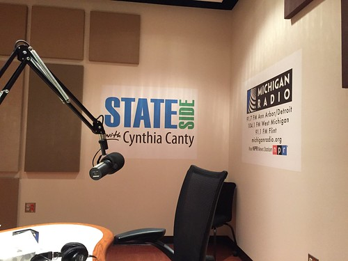 Interview in Michigan Radio studio with Cynthia Canty of Stateside