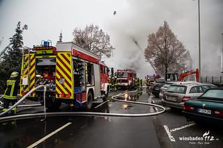 Großbrand Industriehalle Oberursel(Ts.) 7.12.2016