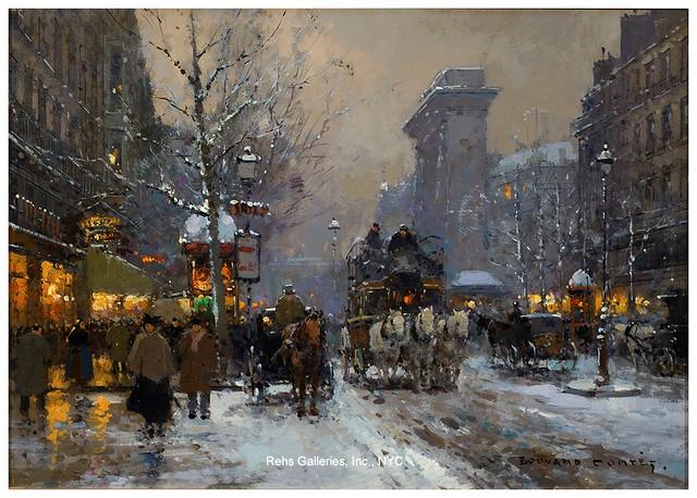 006-Puerta de Saint Denis en invierno-Edouard Leon Cortes-rehs galleries
