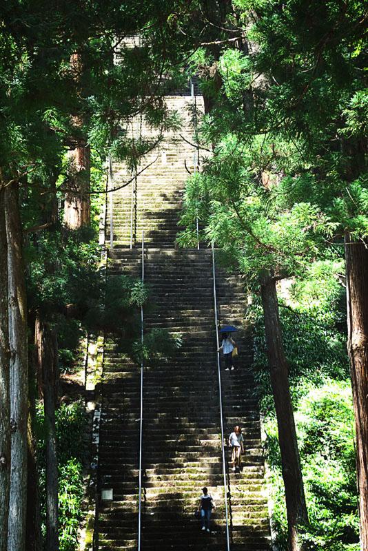 身延町 久遠寺菩提梯