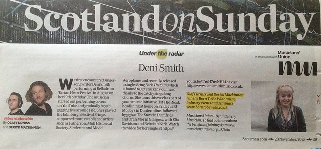Scotland On Sunday, 20 November 2016, Deni Smith