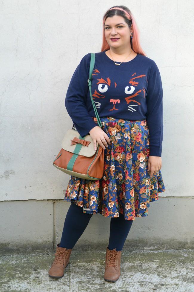 Outfit blu e floreale (4)