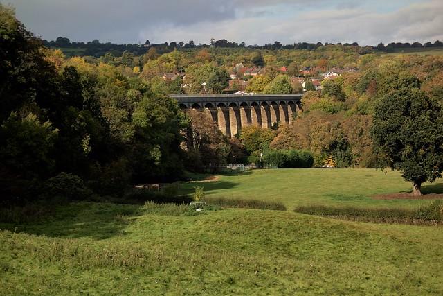 Landscape view of Pontcysyllte Aqueduct, N.E. Wales