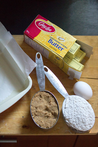 Ingredients for Salted Caramel Blondies