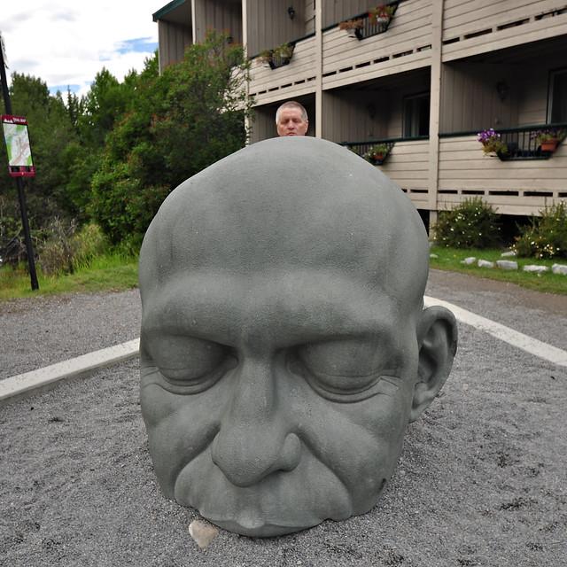 Big head sculpture