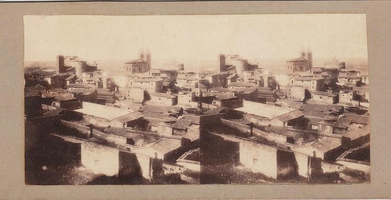 Barrio del Arrabal en 1856 por Joseph Carpentier. Colección Luis Alba