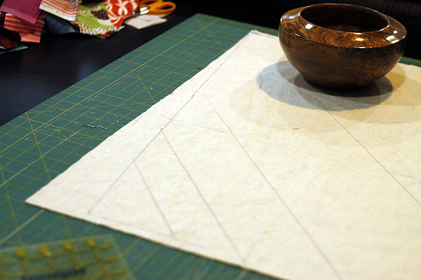 Tree Skirt in quilt-as-you-go