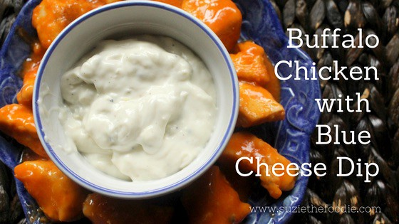 Buffalo Chicken With Blue Cheese Dip