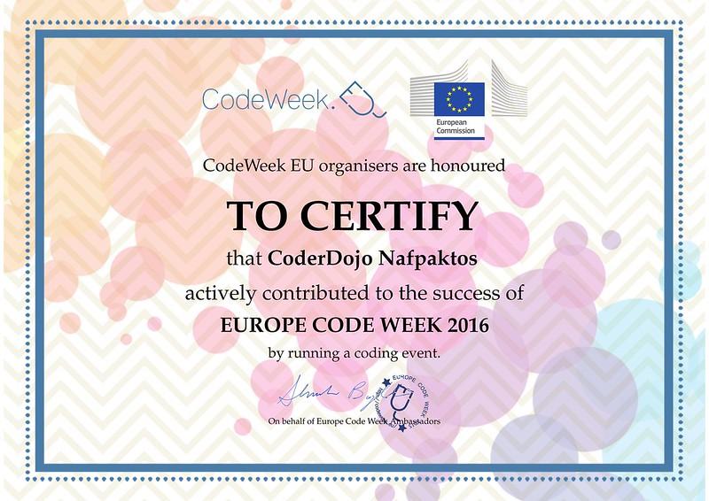 221016 - European Code Week 2016