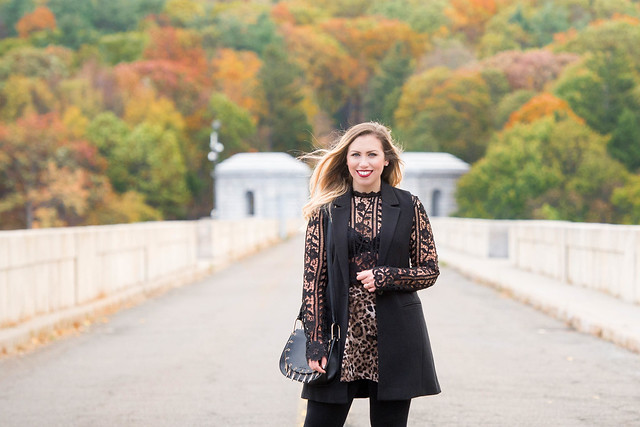 Black Long Sleeve Lace Tobi Crop Top Leopard Skirt Fall Foliage Living After Midnite by Jackie Giardina