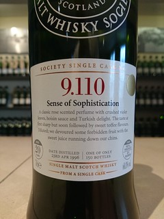 SMWS 9.110 - Sense of Sophistication