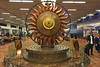 Delhi - Airport Surya sculpture back