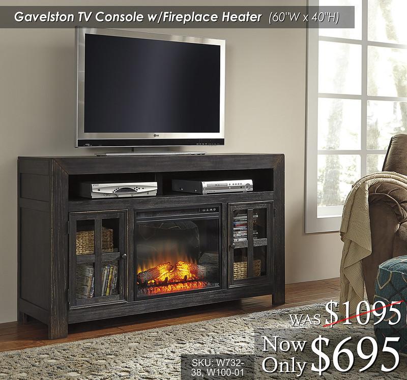 Gavelston TV Console wFire W732-38-W100-01
