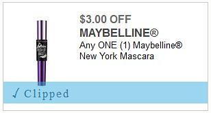 Maybelline Mascara Coupon