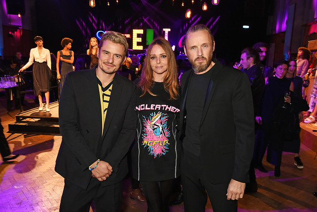 Orlando Bloom, Stella McCartney and Alasdhair Willis attend the Stella McCartney Menswear launch and Women's Spring 2017 collection presentation at Abbey Road Studios on November 10, 2016 in London, England.  Pic Credit: Dave Benett