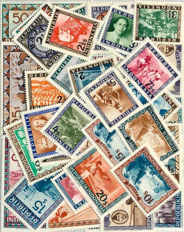Známky Indonézia balÃ-Äek 50 ks rôznych