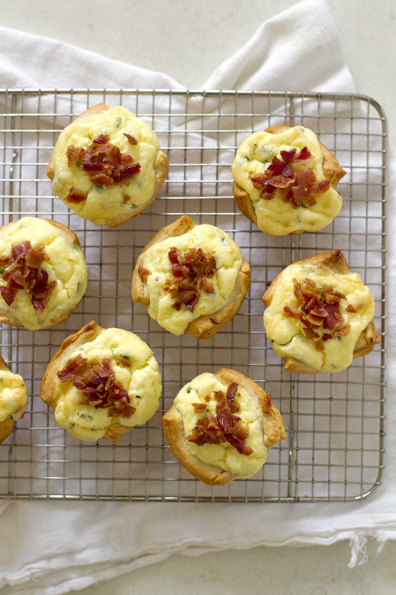 Bacon Quiche Crescent Cups | girlversusdough.com @girlversusdough