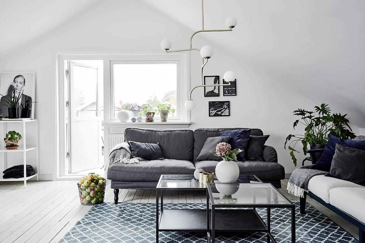 An All White Scandinavian Home