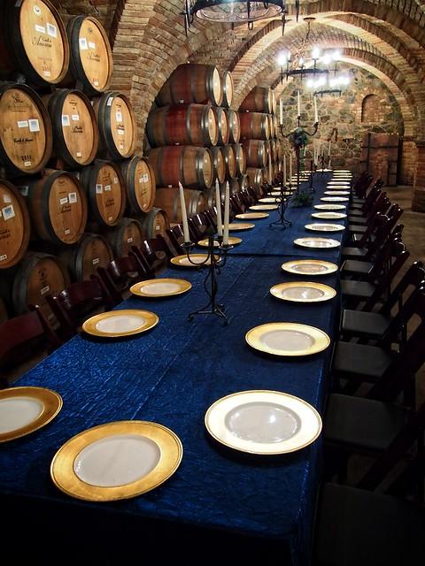 Castello Di Amorosa Banquet Setting