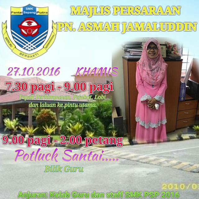 Persaraan Pn. Asmah Jamaluddin