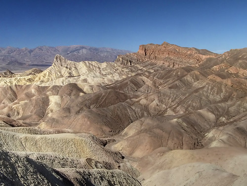 Manly Beacon and Red Cathedral from Zabriskie Point