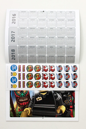 LEGO 2017 Colorable Wall Calendar