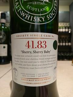 SMWS 41.83 - 'Sherry, Sherry Baby'