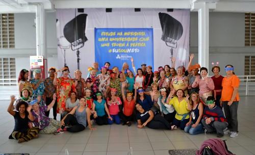 Aula aberta do grupo de Dança Criativa