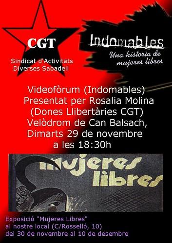 Acte Mujeres Libres CGT Sabadell