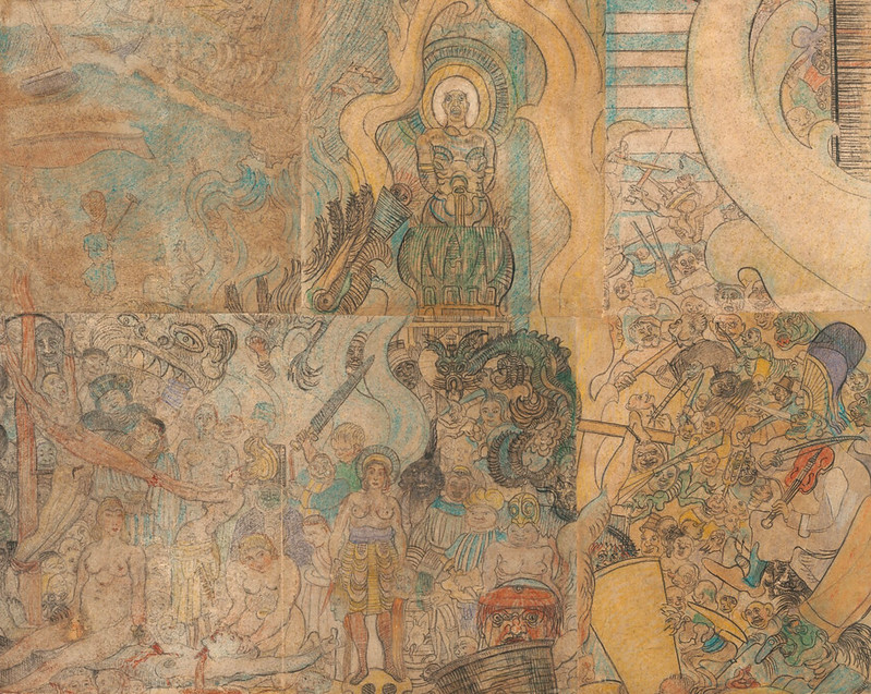 James Ensor - The Temptation of Saint Anthony, detail 2, 1887