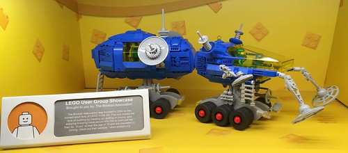 Ore Detector Rover in showcase at LEGO Store, Westfield London