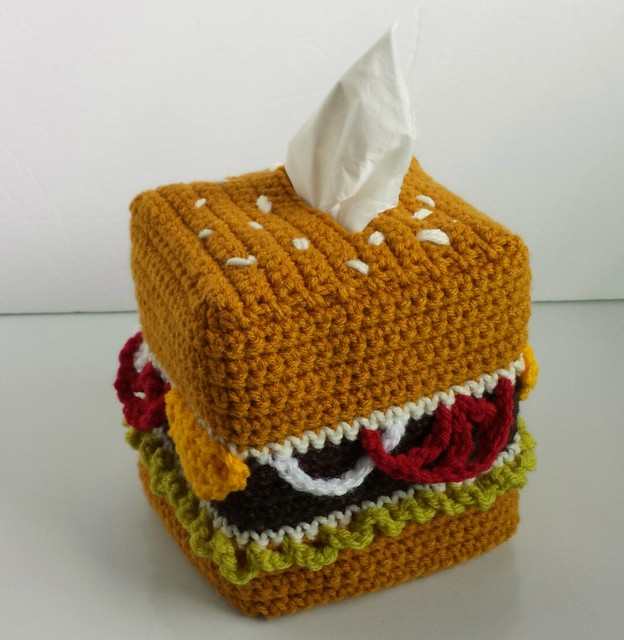 cheeseburger tissue cozy