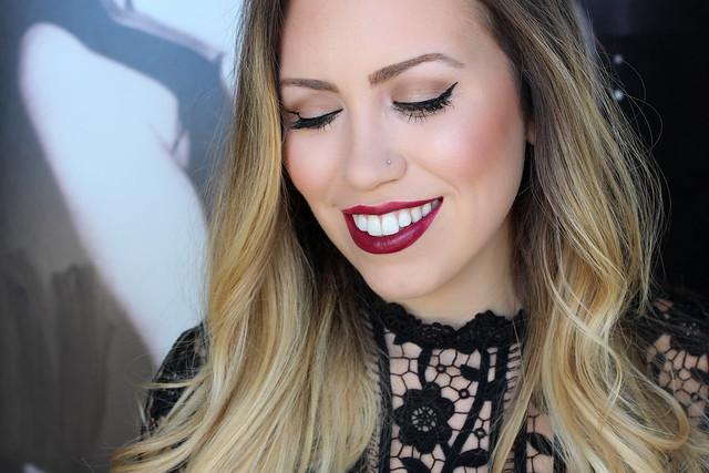 e.l.f. Neutral Mad for Matte Eye Makeup e.l.f. Matte Wine Lipcolor Christmas Holiday Makeup